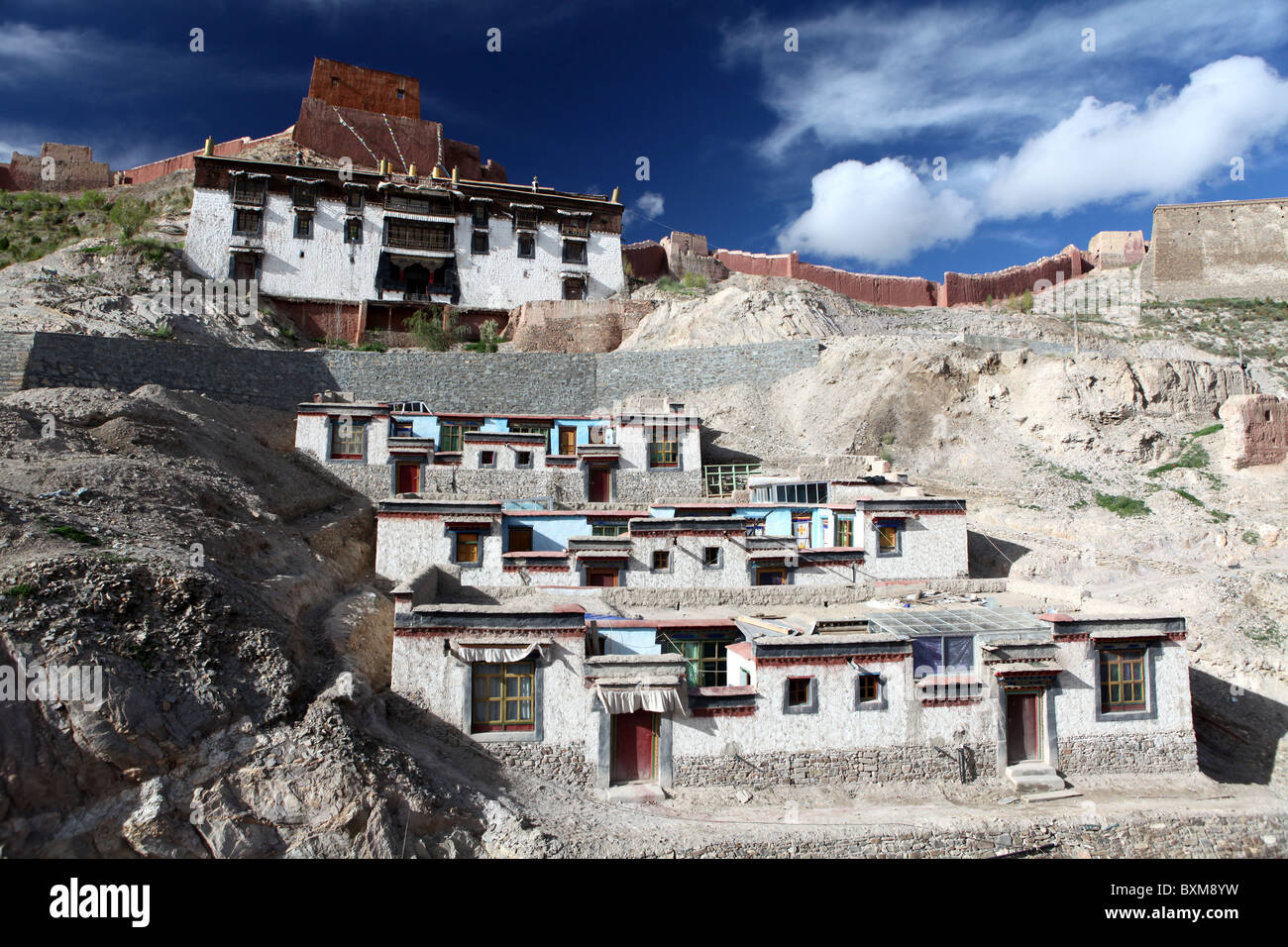 Part of the Shigatse Pelkhor Choede, Palcho Monastery in Gyantse, Tibet, China. Stock Photo