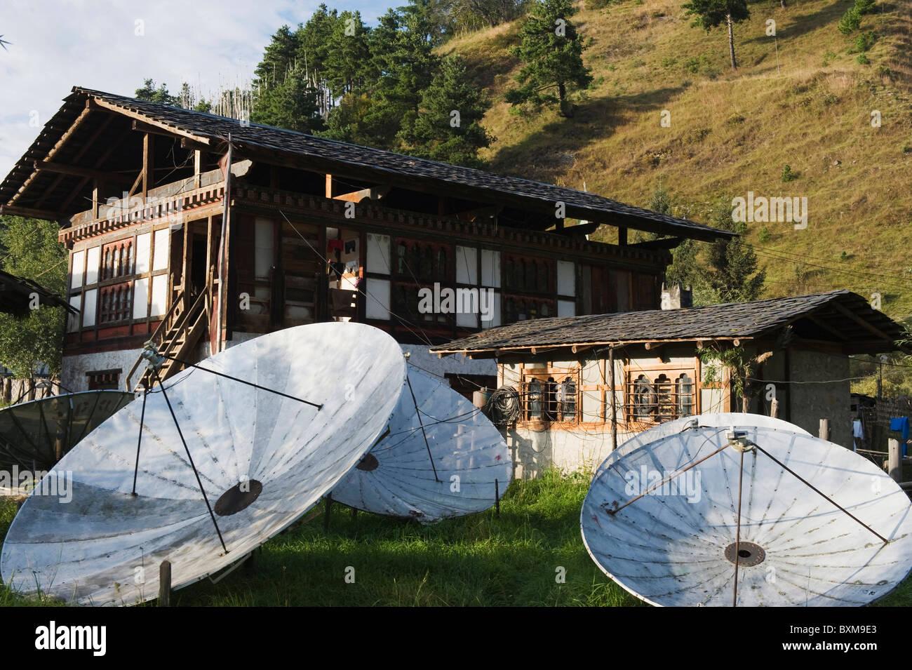 Jakar, Bumthang, Chokor Valley, Bhutan, Asia - Stock Image