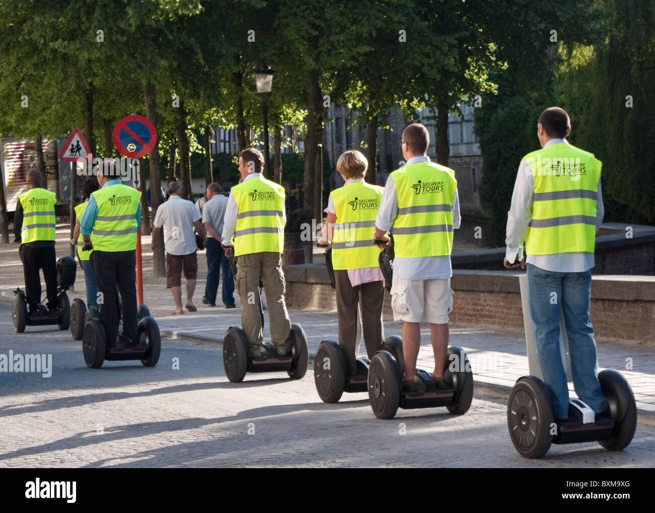 segway drivers in Brugge - Stock Image