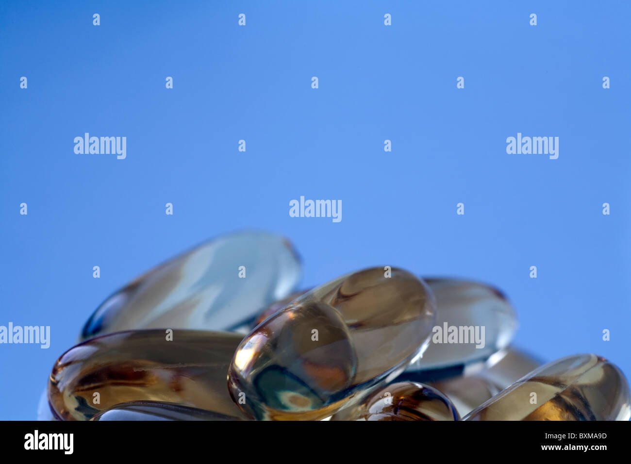 Cod liver oil capsules - Stock Image