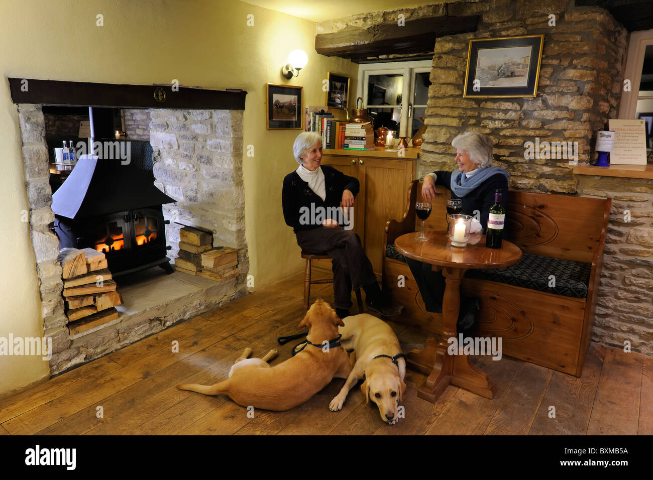Relaxing at the local - Stock Image