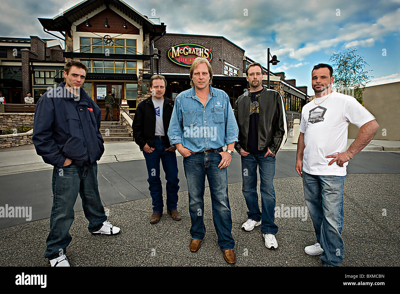 Captain Sig Hansen and The Deadliest Catch Crew of the Northwestern - Stock Image