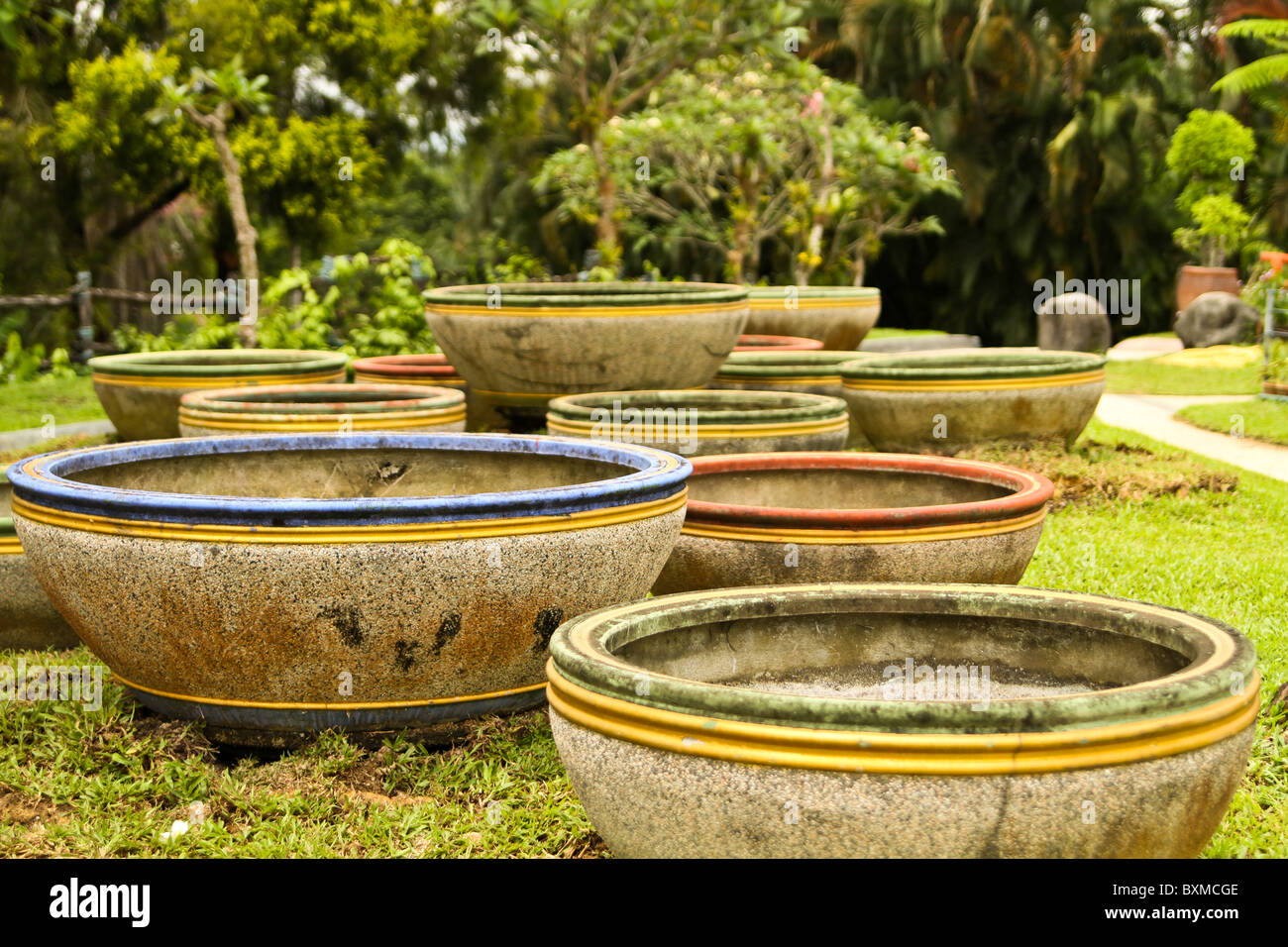 Giant Garden Pots Giant pots stock photos giant pots stock images alamy giant terracota flower pots in malaysia botanical garden stock image workwithnaturefo