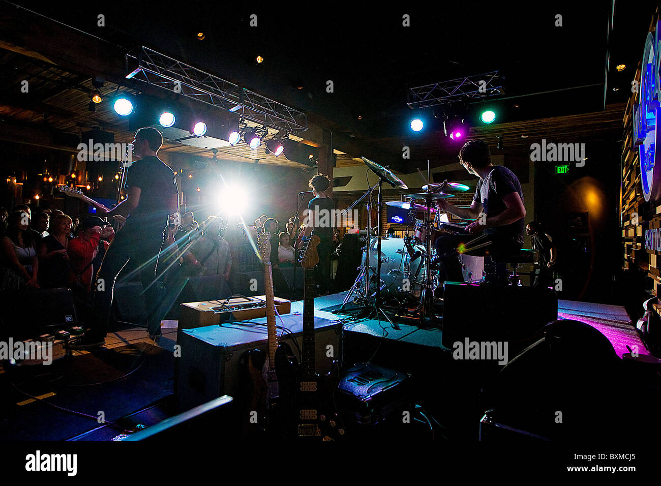 Rock Band the Thermals in concert - Stock Image