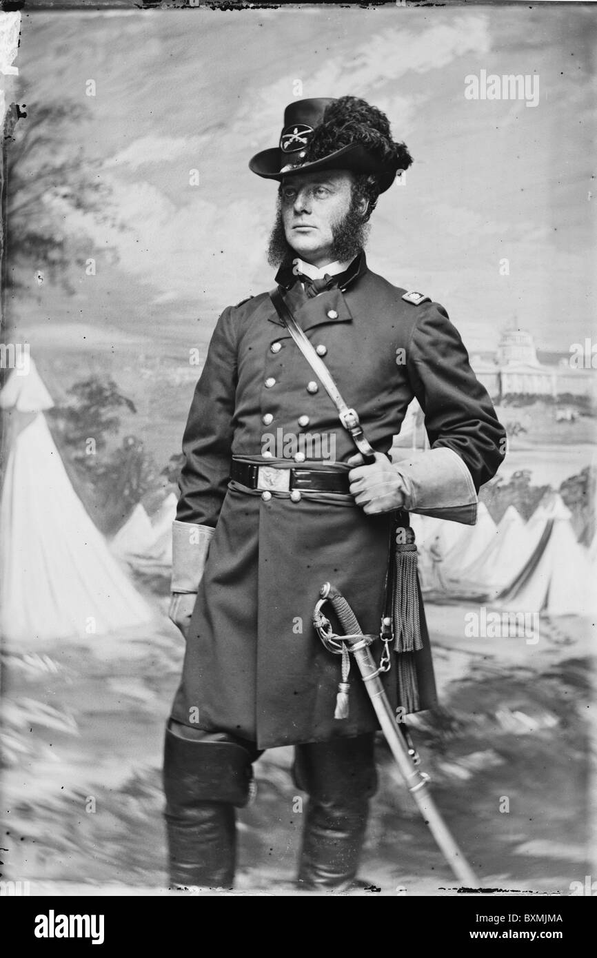 Lt. Col. J.H. Childs, 4th Pa. Cavalry union soldier officer - Stock Image