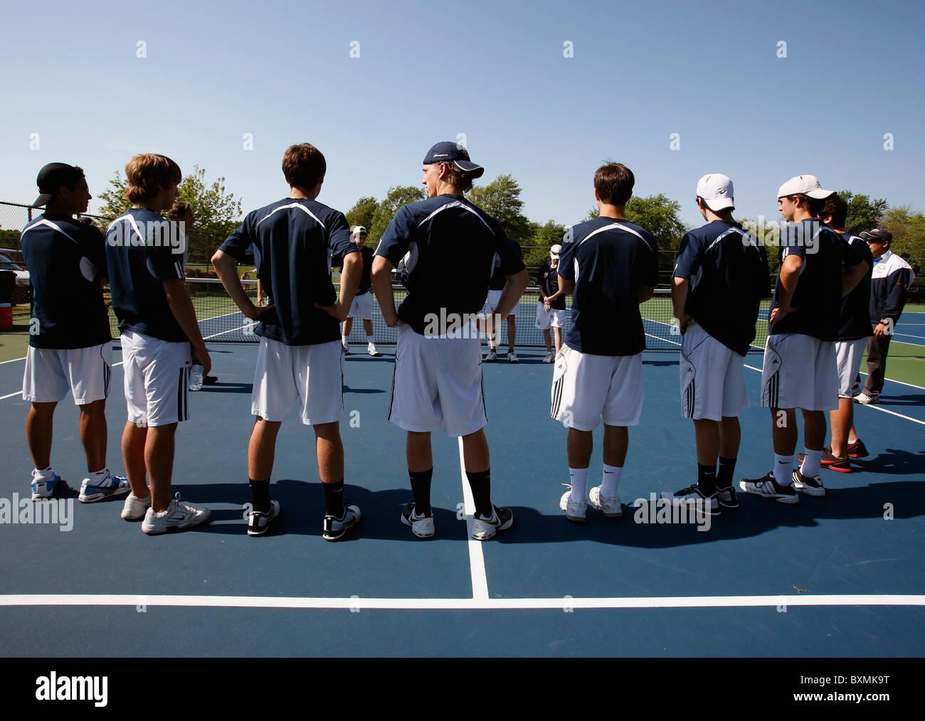 American high school tennis team - Stock Image