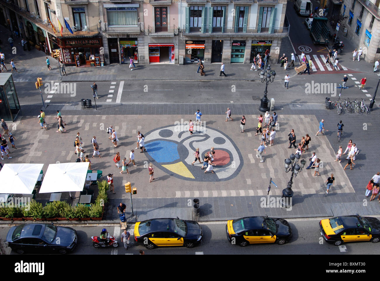 Las Ramblas Barcelona - Stock Image