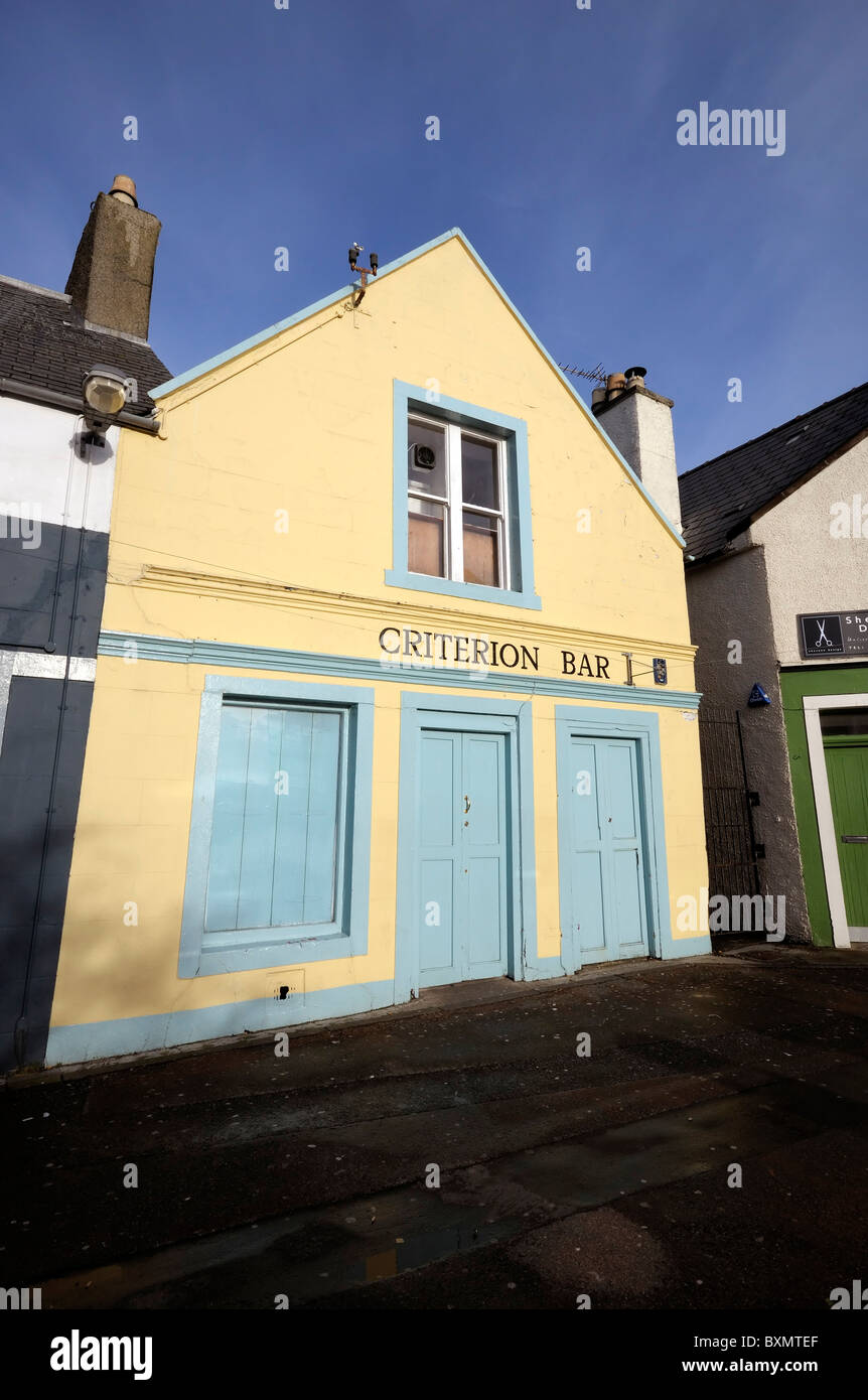The Criterion Bar in Stornoway on the Isle of Lewis - Stock Image