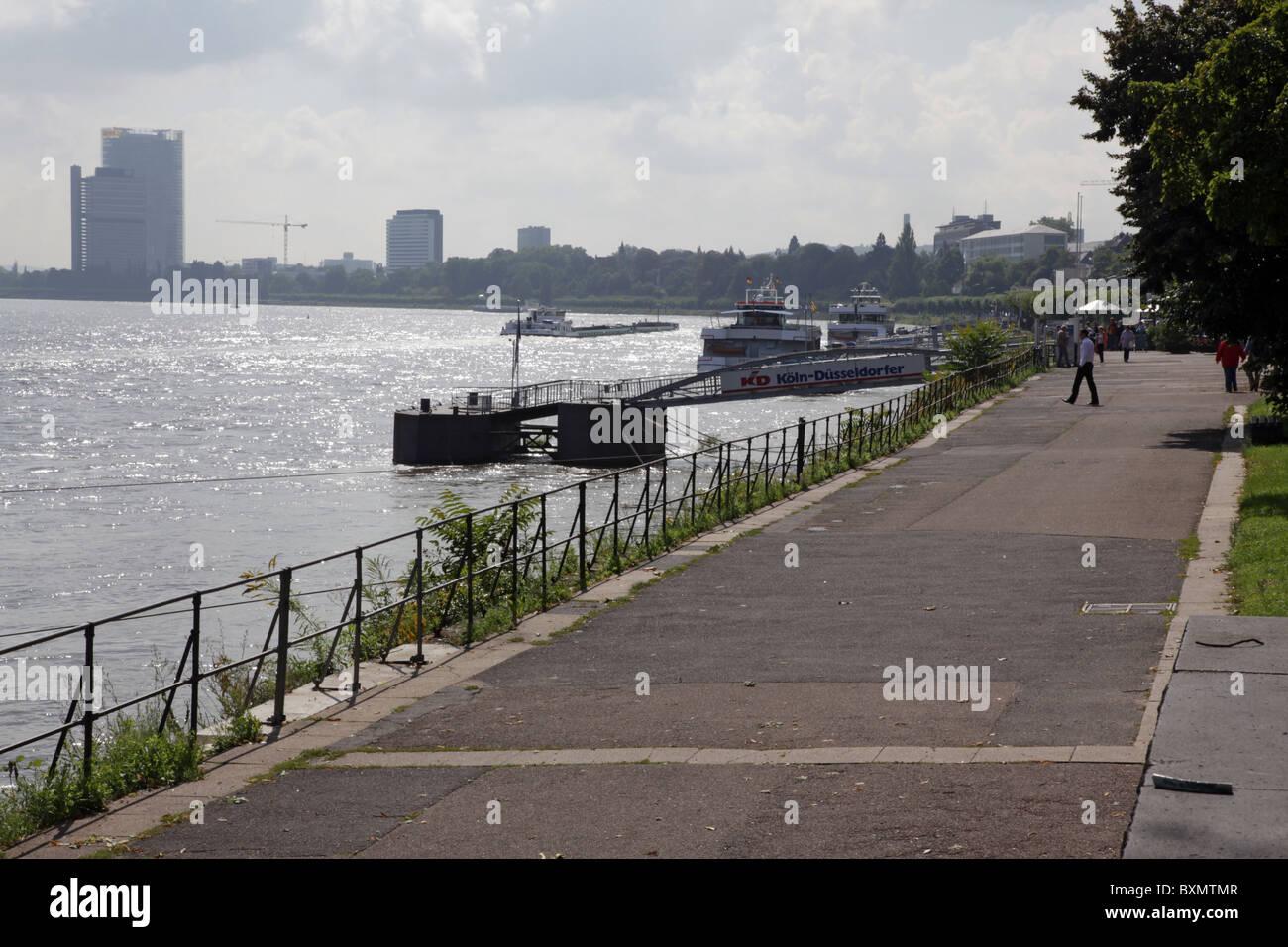 View on Bonn along the Rhine - Stock Image