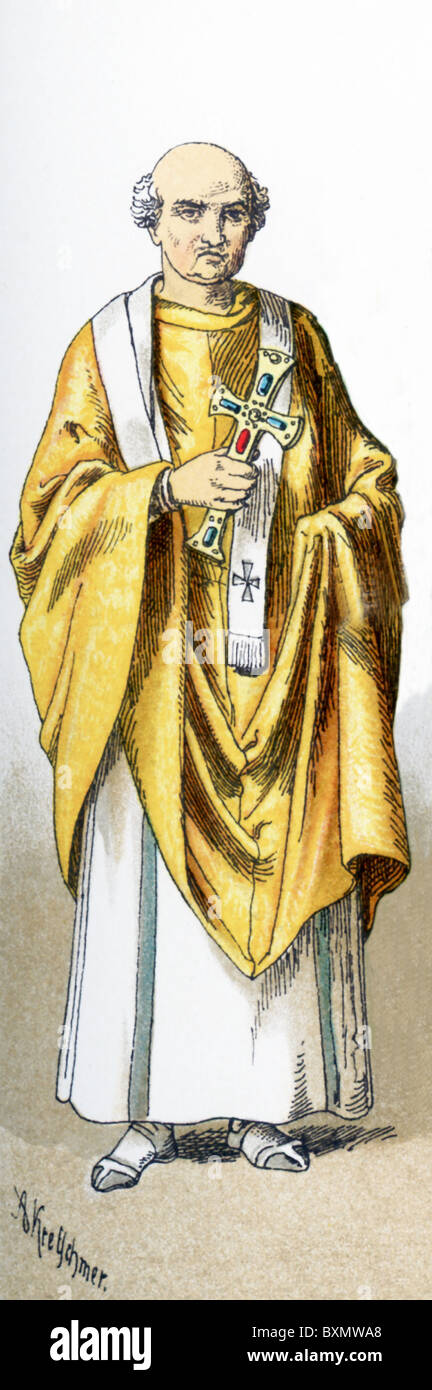 The figure represented here is Maximianus, who was archbishop of Constantinople (present-day Istanbul) from 431 - Stock Image