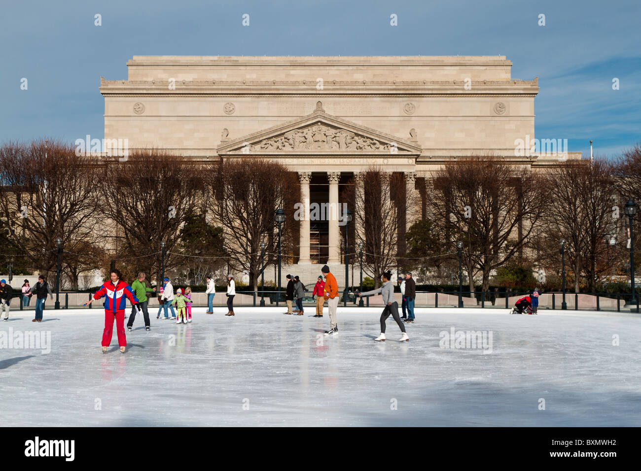 Ice Skating on the National Mall, National Art Gallery Courtyard ...
