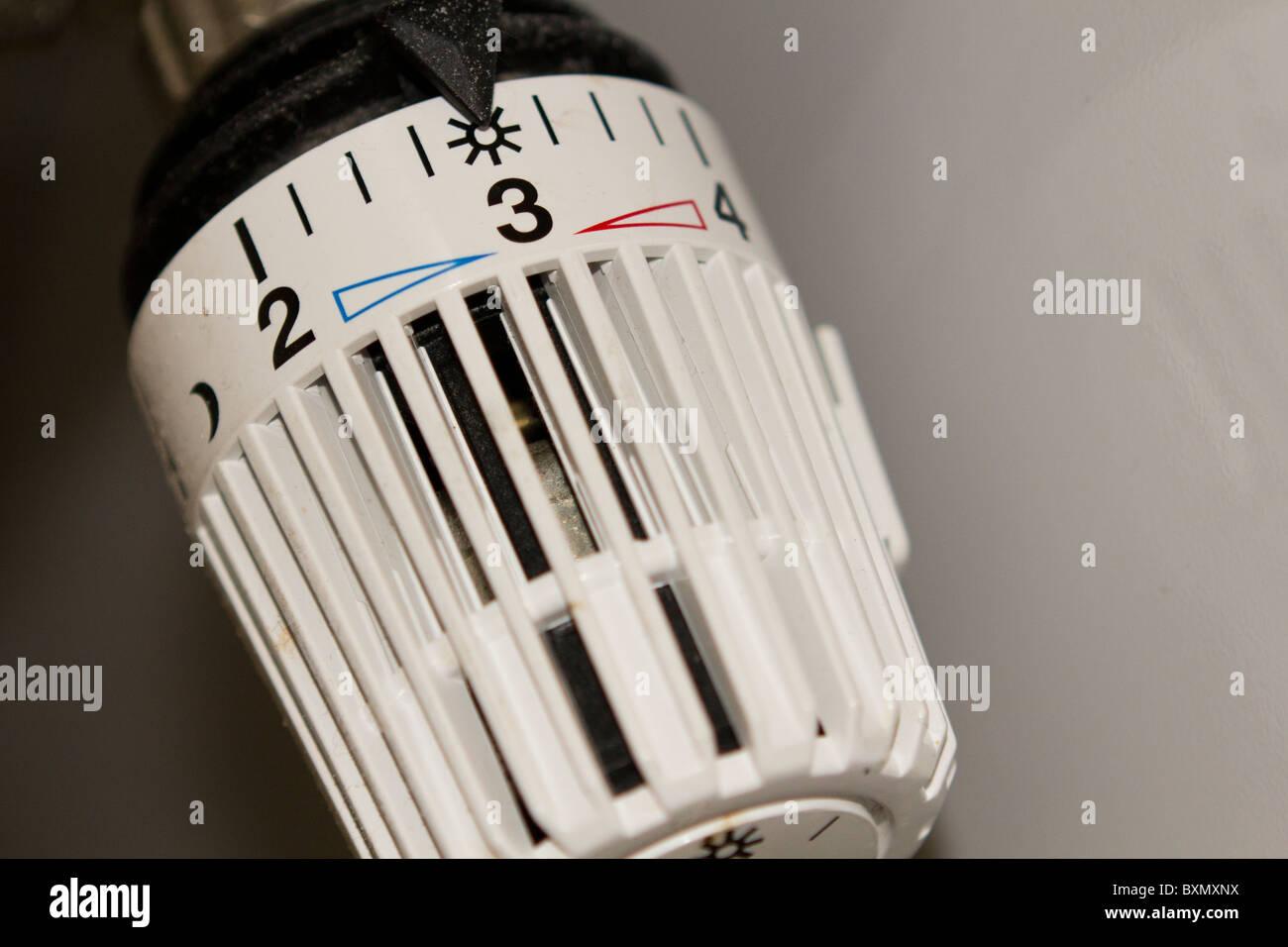 white heating regulator - Stock Image
