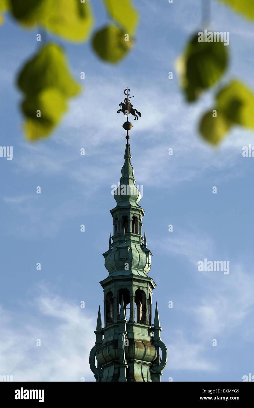 Trompetertårnet / The Trumpet Tower, Kronborg Castle, Helsingør, Zealand, Denmark - Stock Image