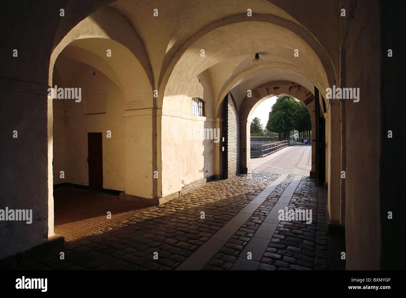 Kronværksporten, The Crownwork Gate, Kronborg Castle, Helsingør, Zealand, Denmark - Stock Image