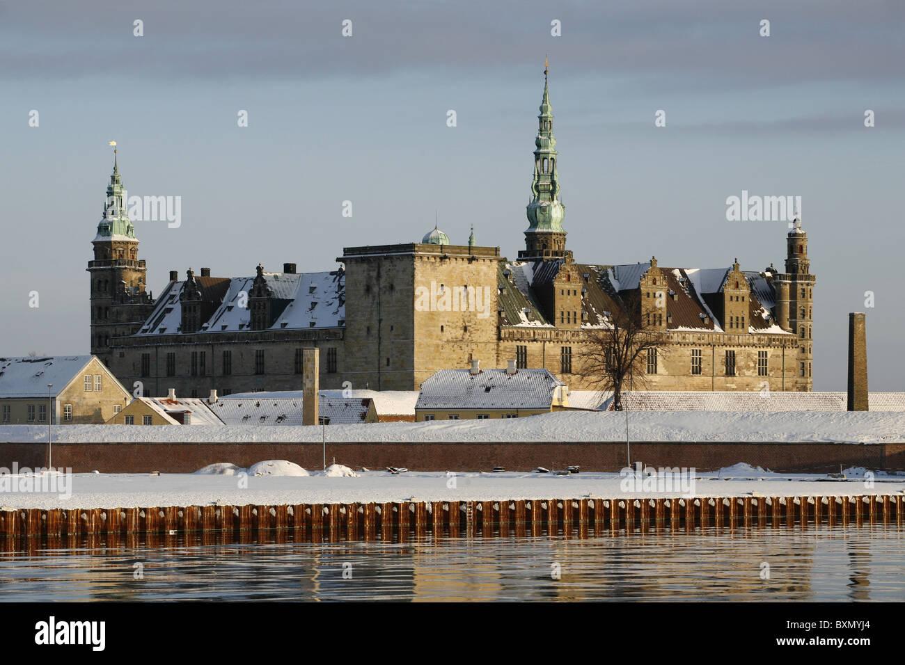 Kronborg Castle, Helsingør, Zealand, Denmark - Stock Image