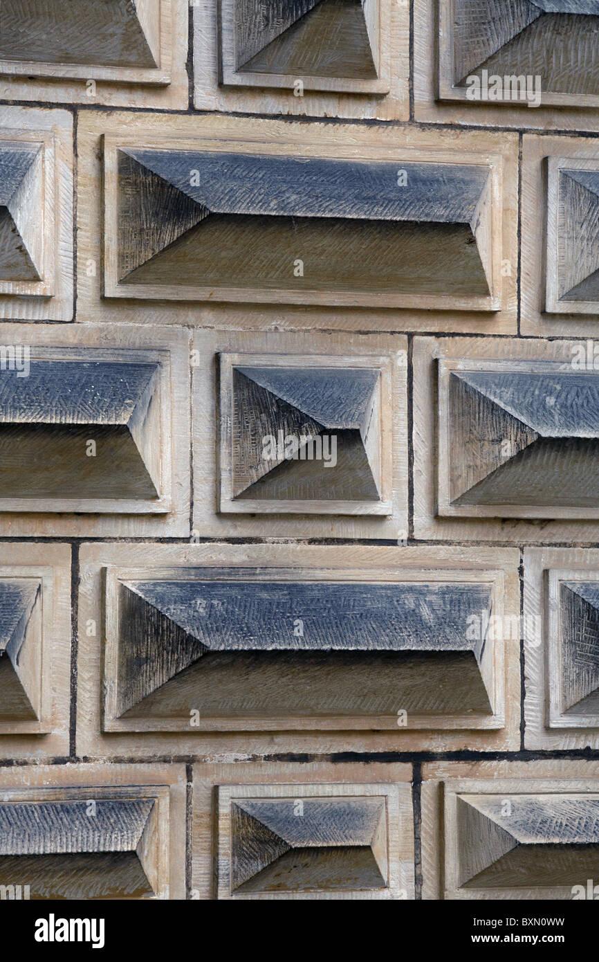 Courtyard Wall, Kronborg Castle, Helsingør, Zealand, Denmark - Stock Image