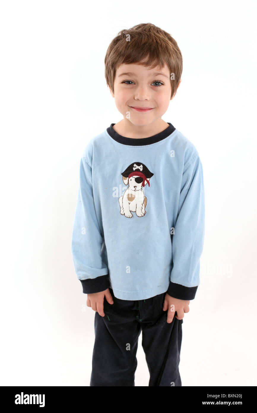 4 Year Boy Bedroom Decorating Ideas: Smiling 4 Year Old Boy In Studio On White Stock Photo