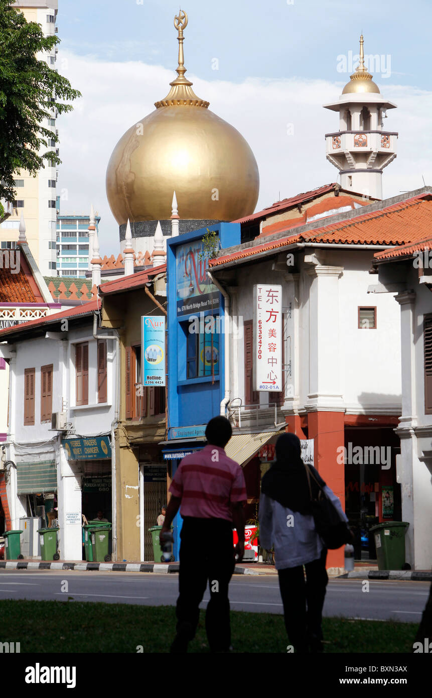 Singapore: Masjid Sultan Mosque. The mosque is considered one of the most important mosques in Singapore. - Stock Image