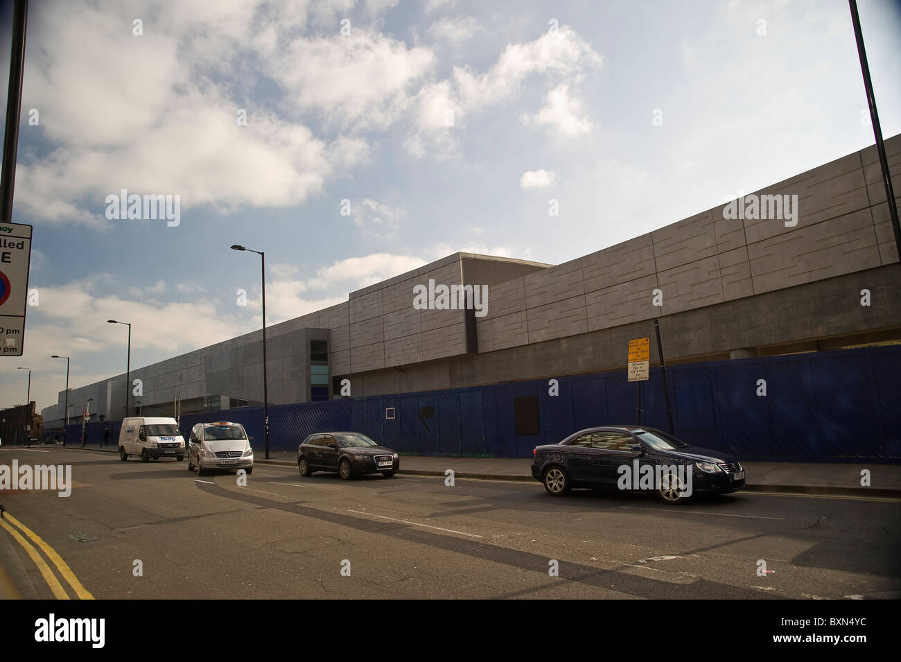 The new Shoreditch London Overground Station on Bethnal Green Road, London, UK - Stock Image
