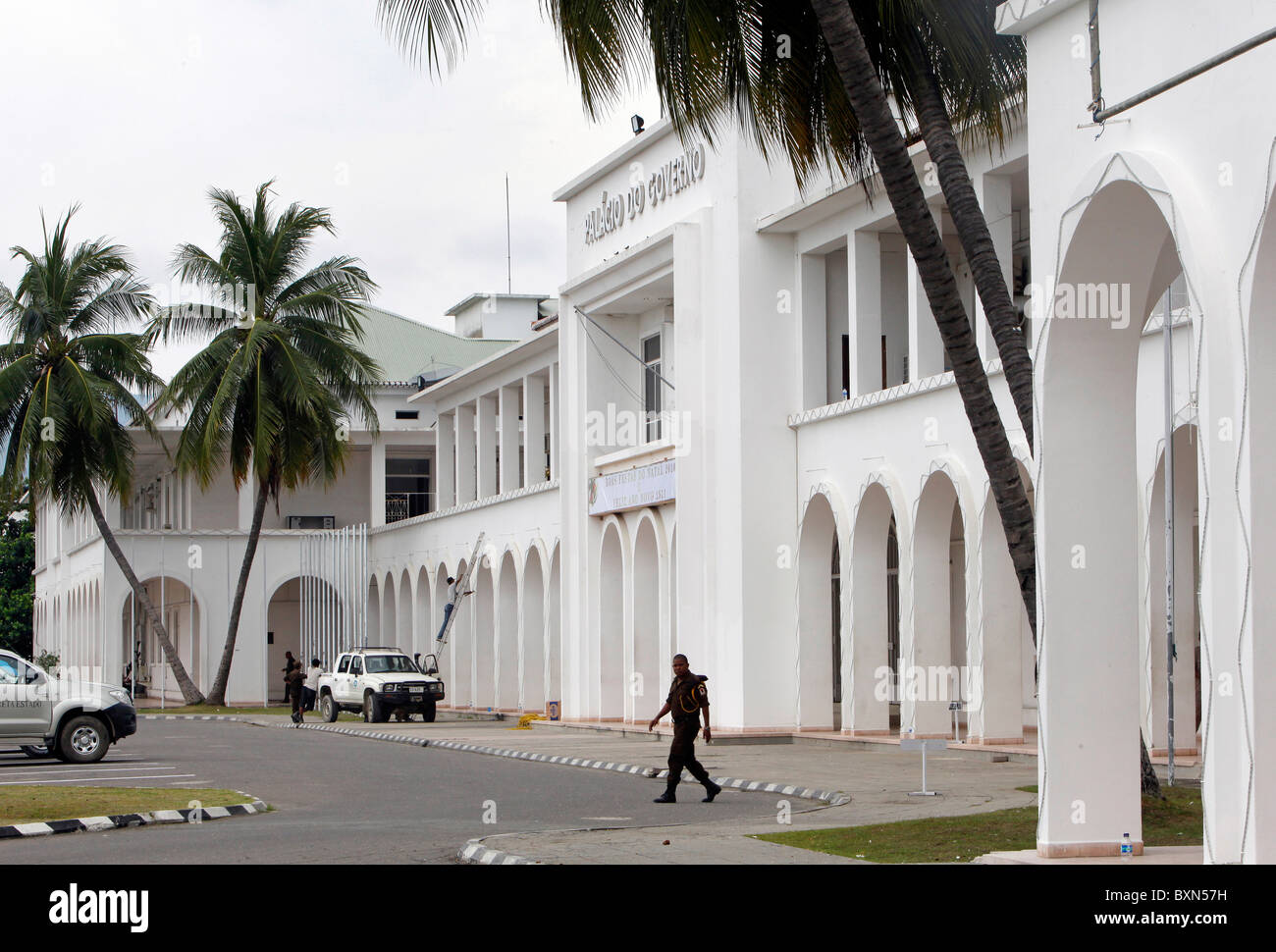 The Palacio do Governo (Government Palace) in Dili, capital of Timor Leste (East Timor) - Stock Image