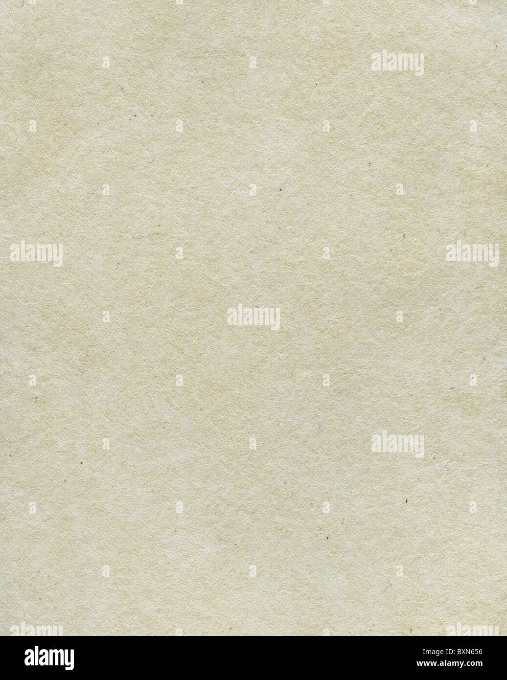 Textured grainy rough recycled paper with natural fiber parts - Stock Image