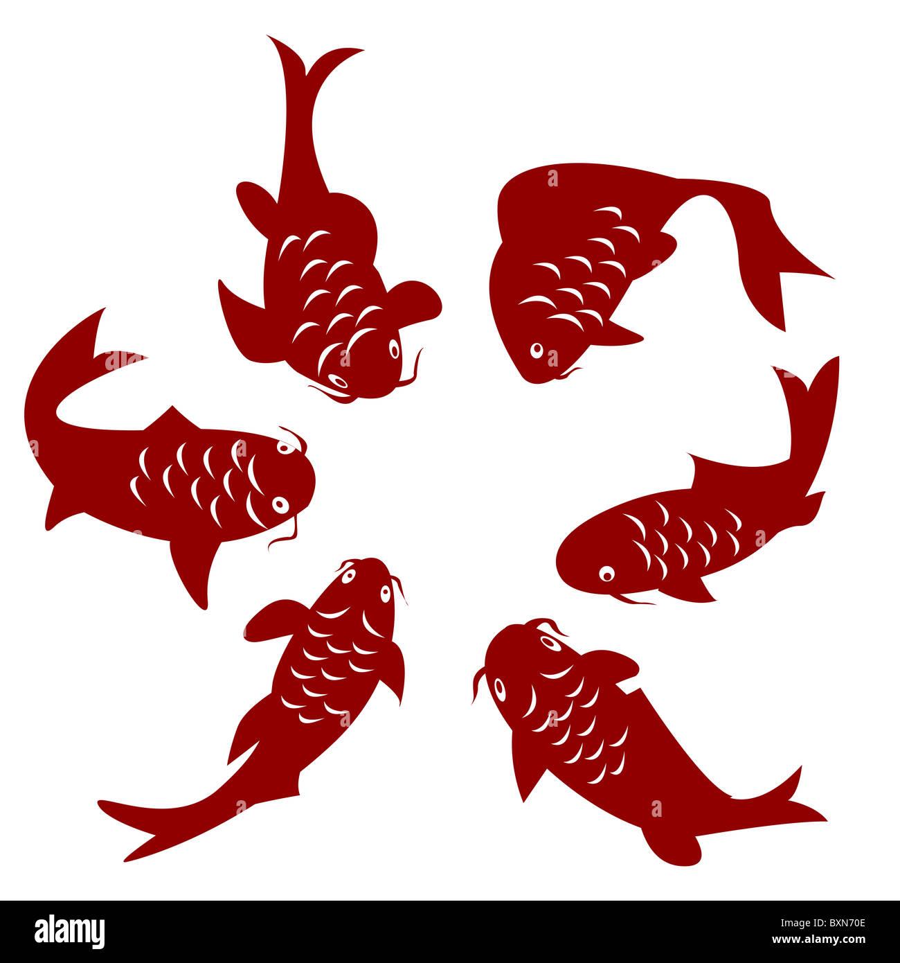 Koi fish - Stock Image