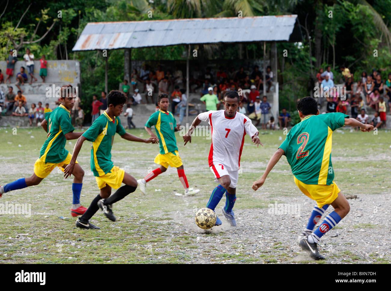 Soccer match in Liquica, Timor Leste (East Timor) - Stock Image