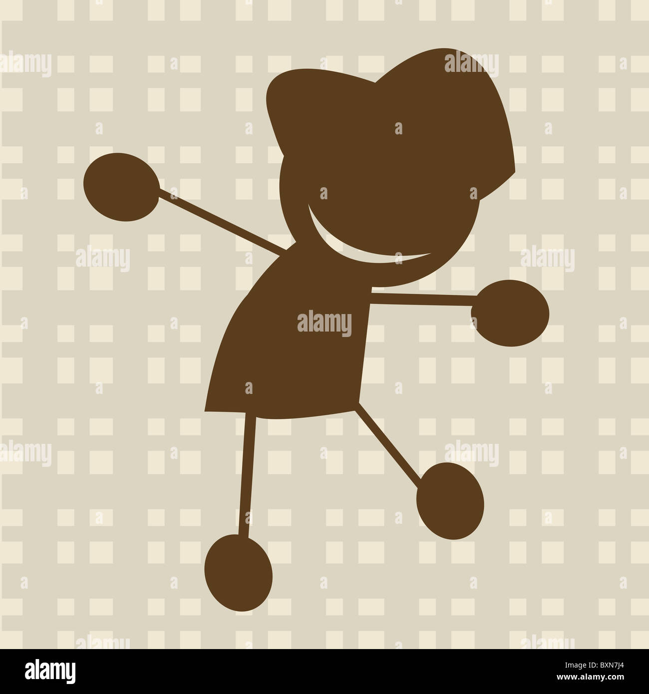 Kid illustration - Stock Image