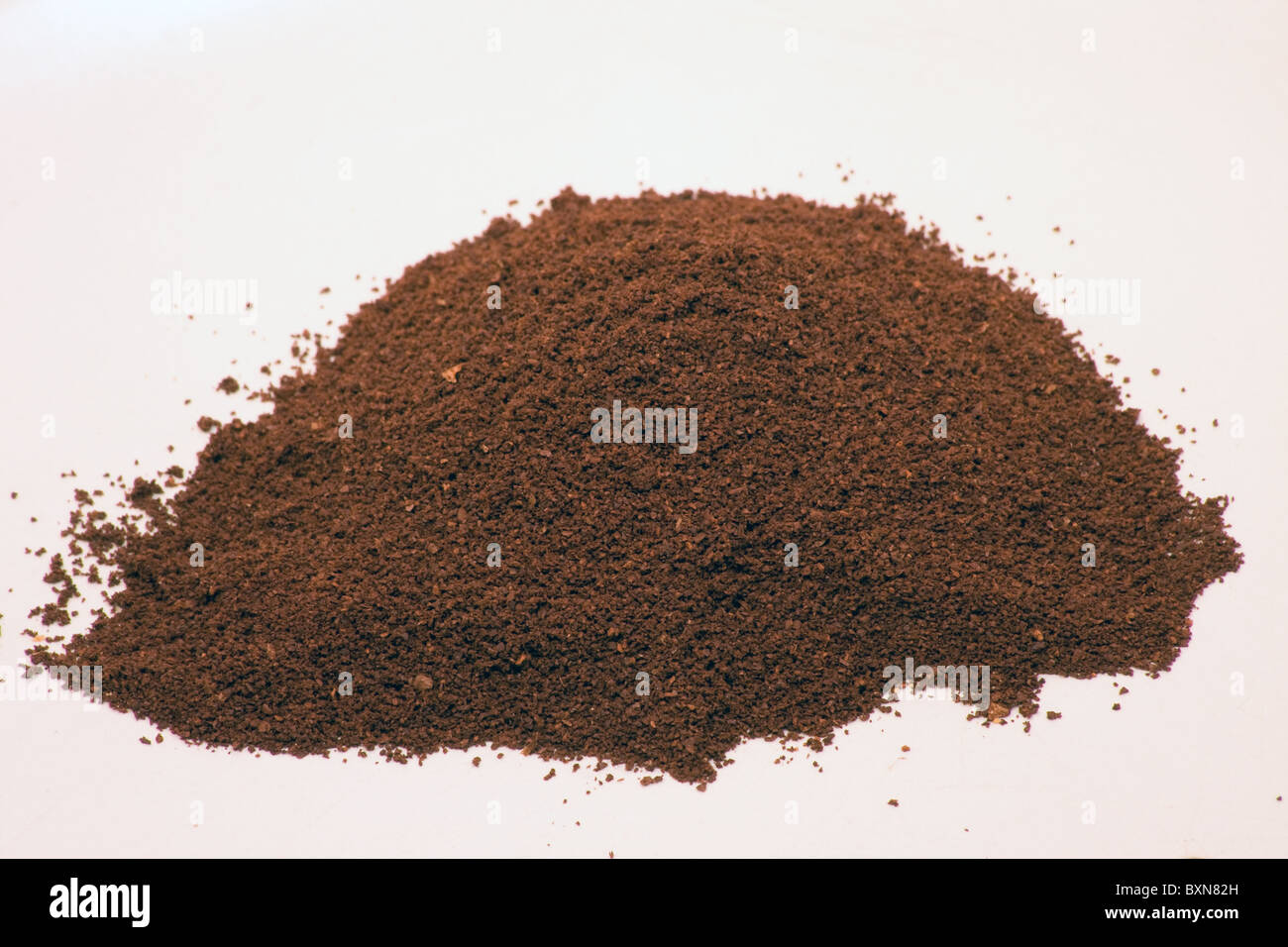 refined brown coffee ground energy stimulant drink - Stock Image