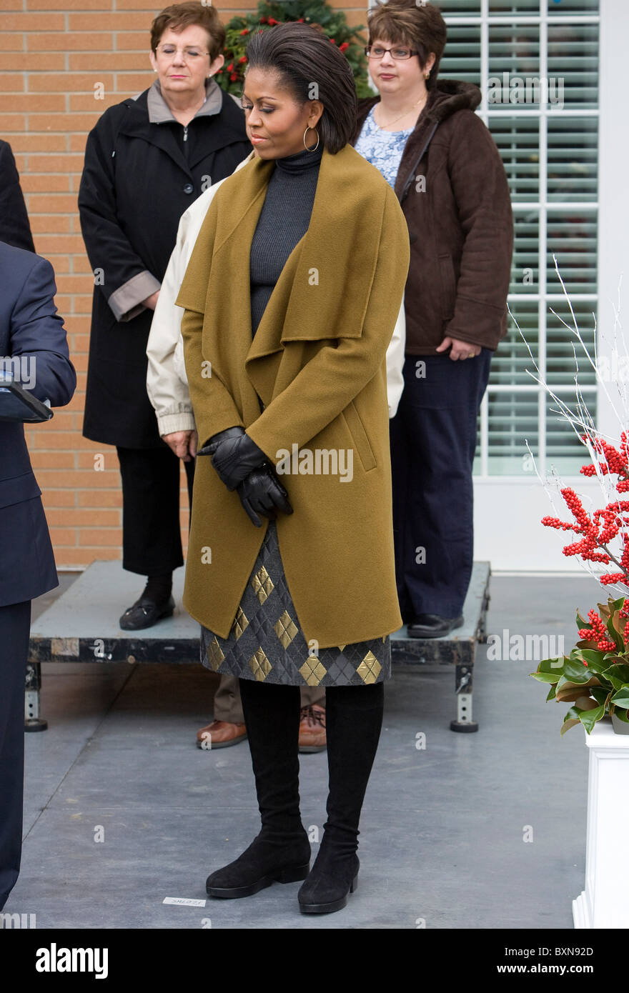 First Lady Michelle Obama.  - Stock Image