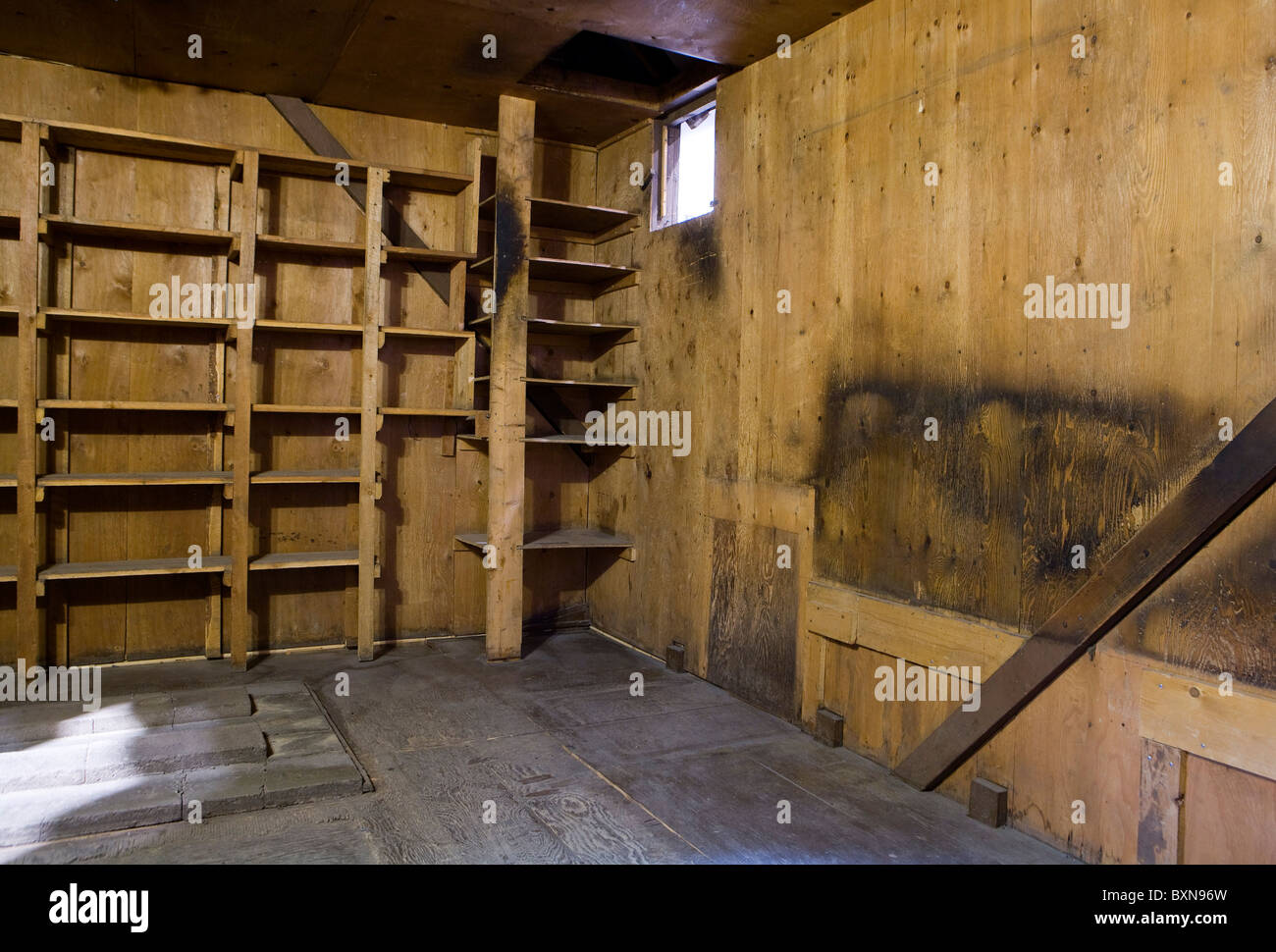 The cabin of Ted Kaczynski, the 'Unabomber' - Stock Image