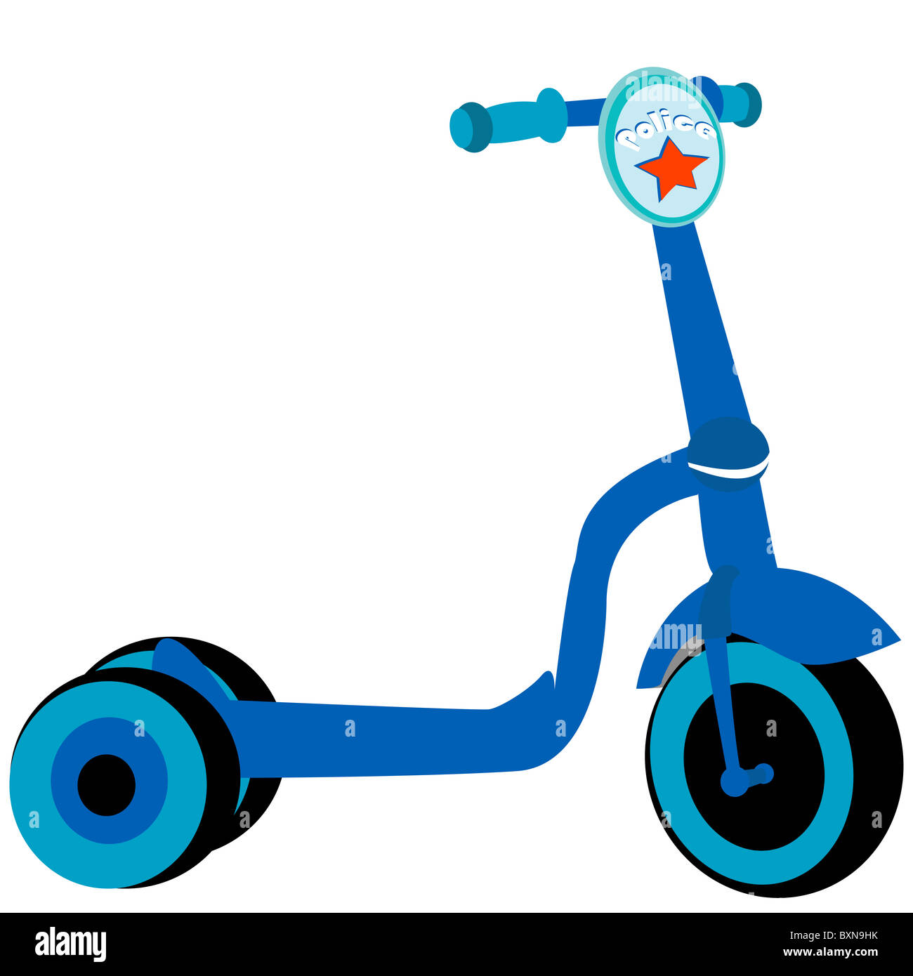 Police toy scooter - Stock Image