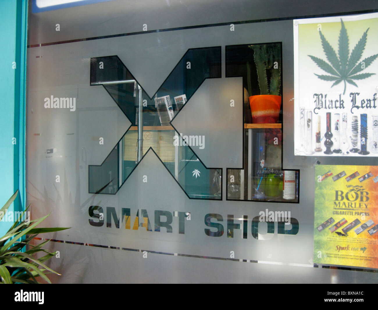 XI Smart Shop legal highs Fore St Arcade Exeter Devon UK Stock Photo