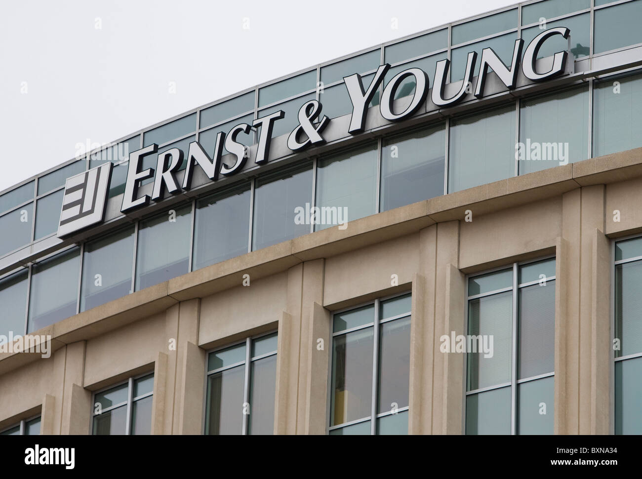 A Ernst & Young office building. - Stock Image