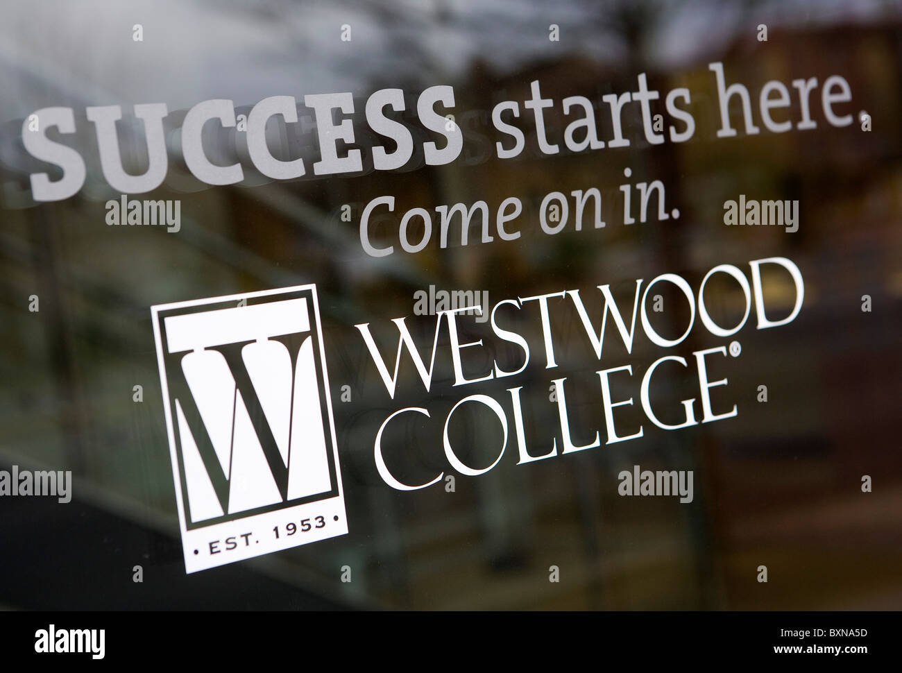 A Westwood College for-profit college. - Stock Image