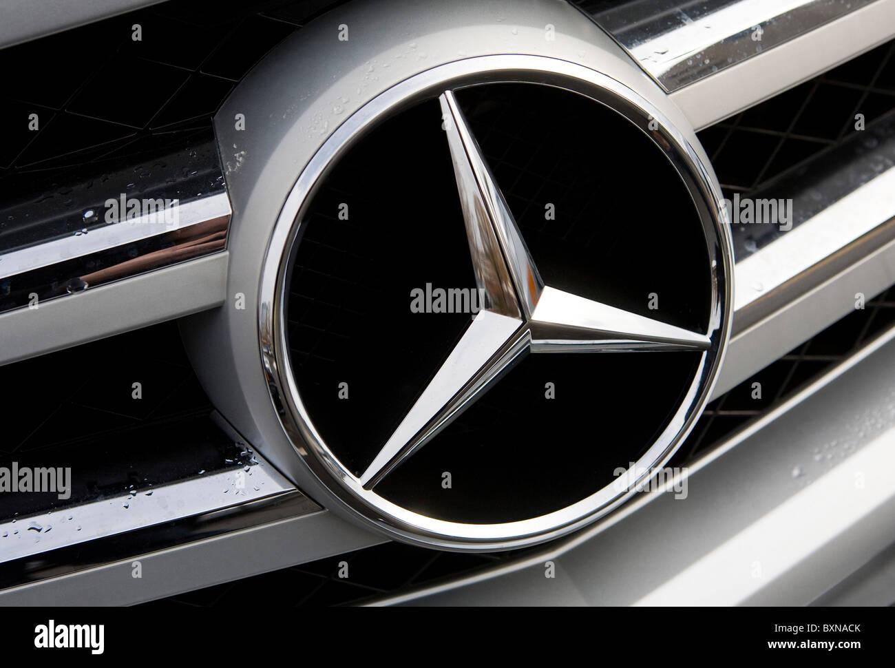 A Mercedes- Benz car dealership.  - Stock Image