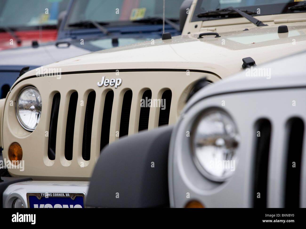 A Jeep car dealership.  - Stock Image