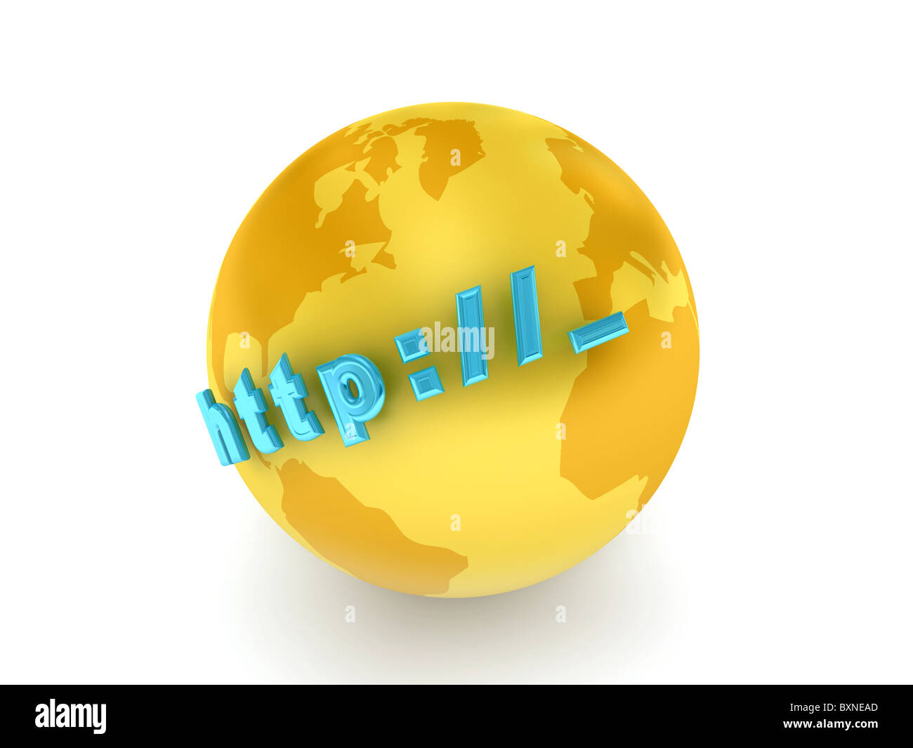 Globe over white background - Stock Image