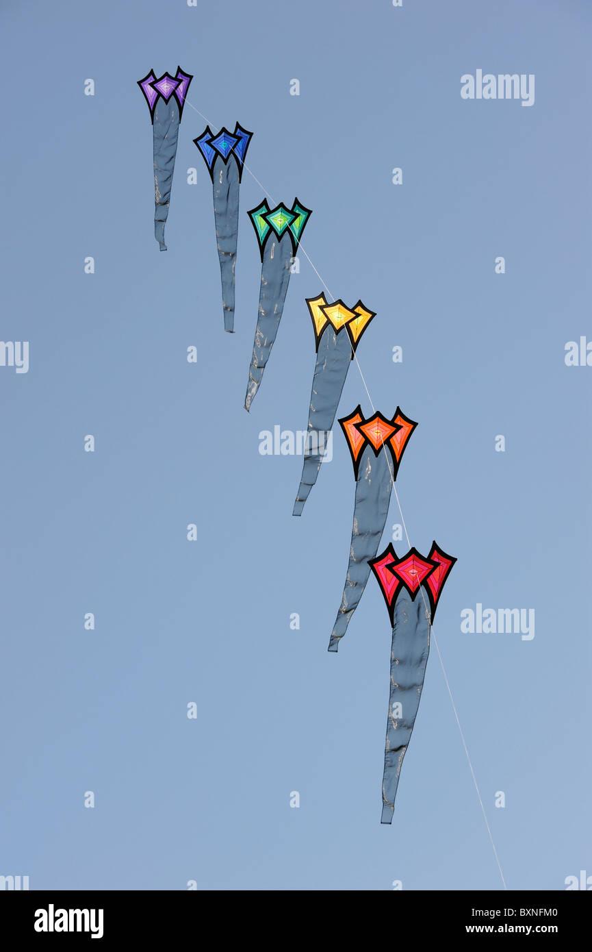 6 kites - Stock Image
