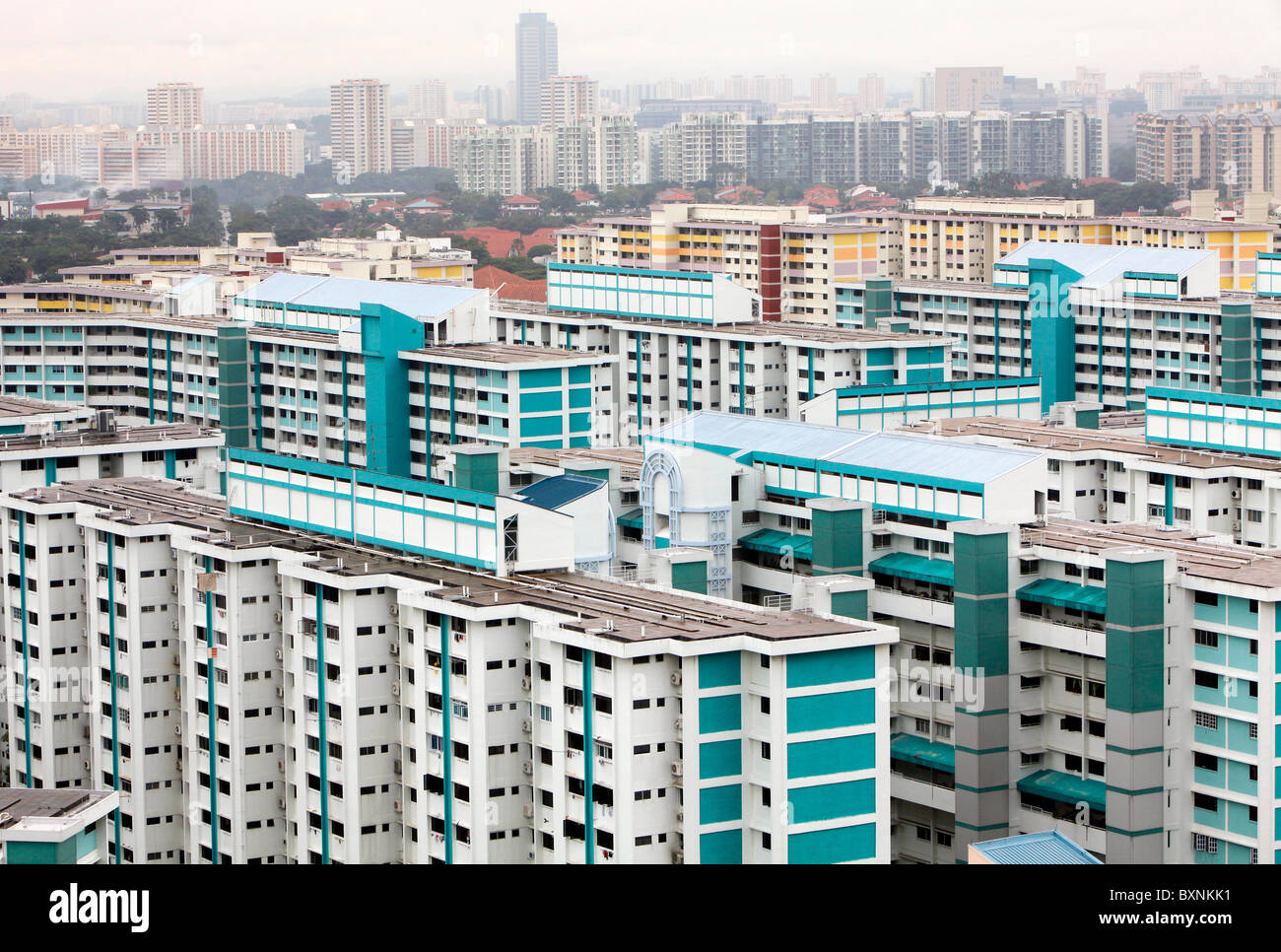 Singapore: housing in the middle class residential district Clementi - Stock Image