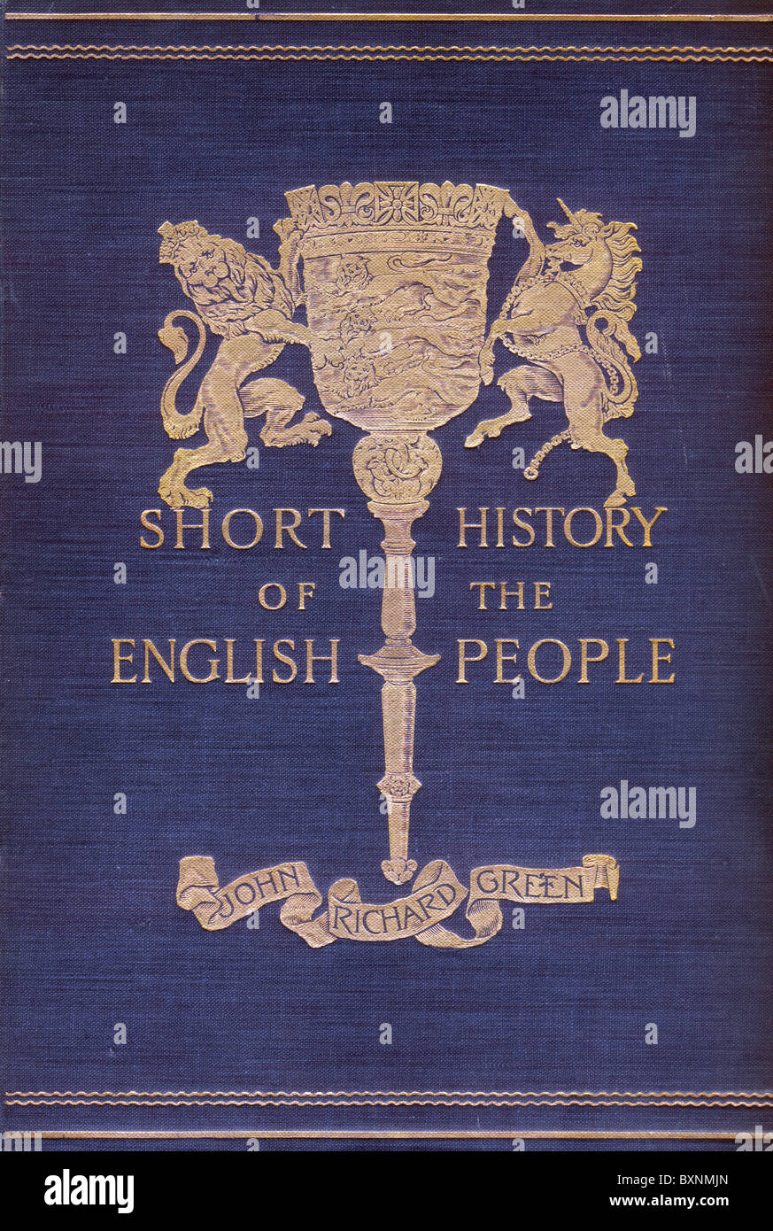 Front Cover of Short History of the English People by John Richard Green, first published in four volumes in 1892 - Stock Image
