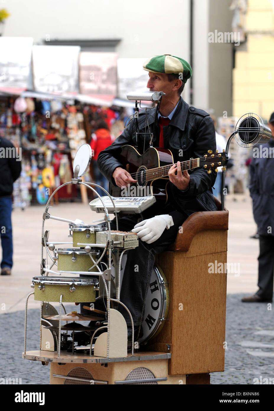 Street entertainer, Bratislava, Slovakia, Europe - Stock Image