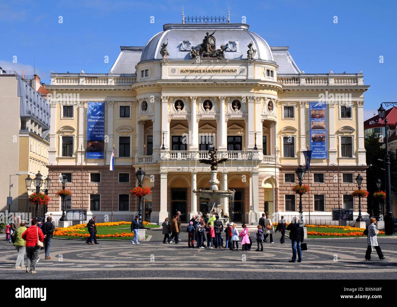The Opera House, Bratislava, Slovakia, Europe - Stock Image