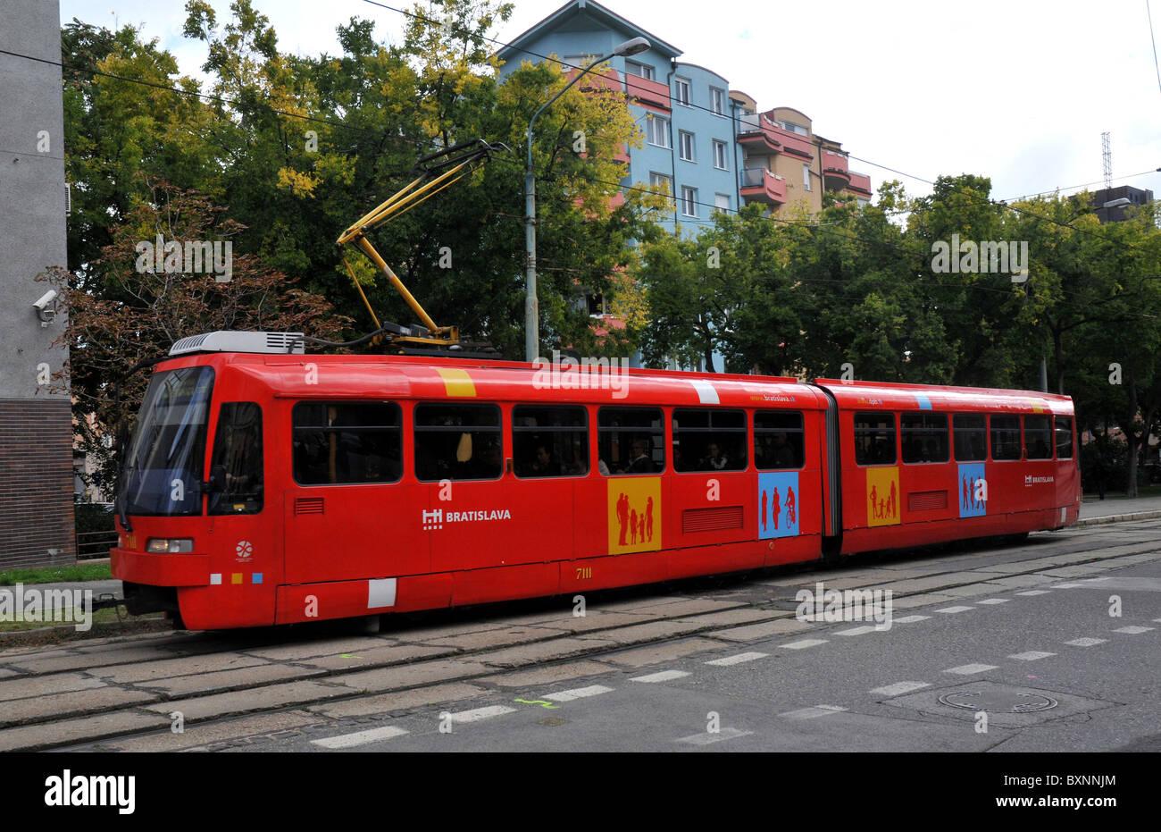 Tram, Bratislava, Slovakia, Europe - Stock Image