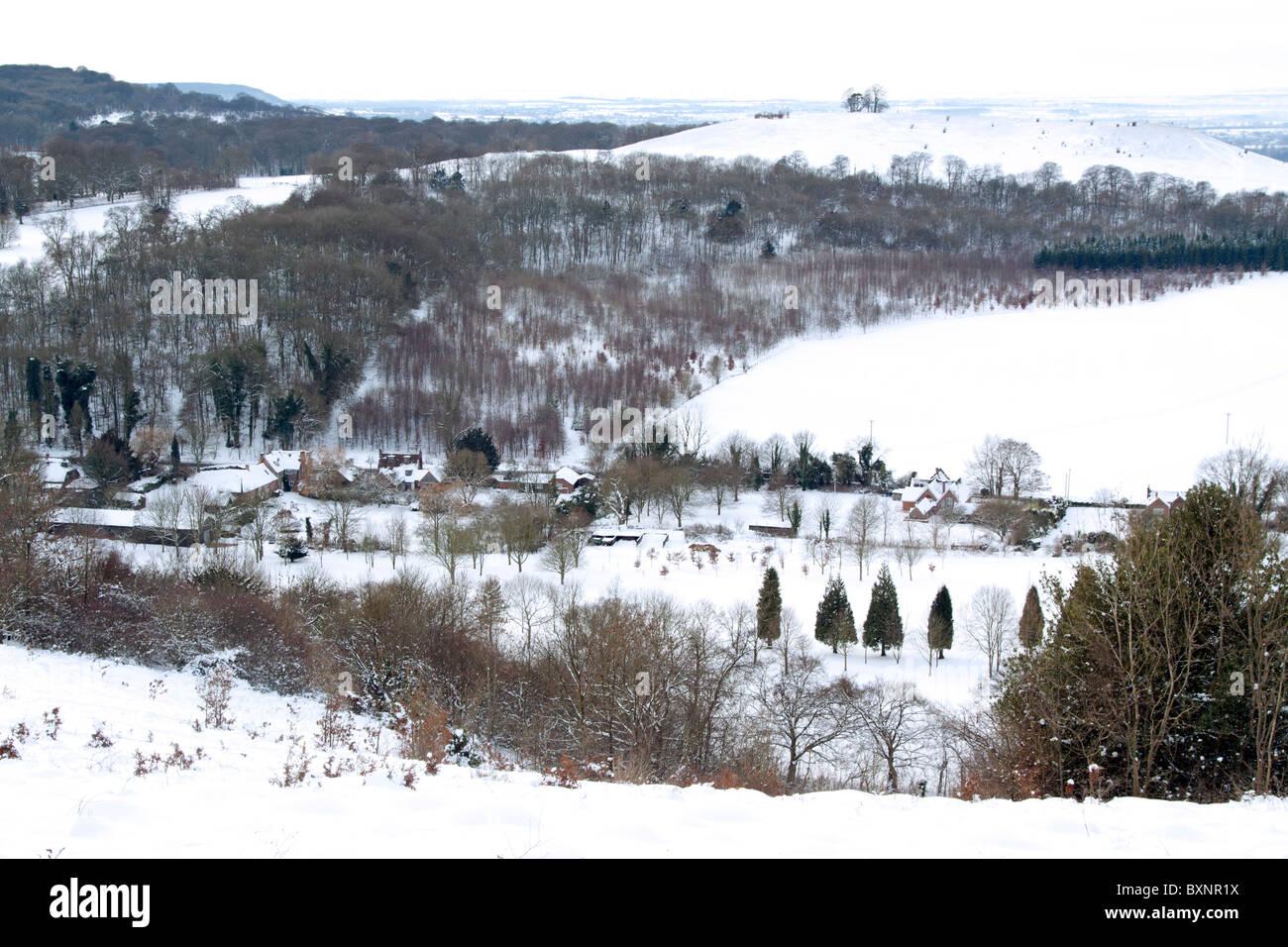 Aylesbury Vale Winter - Buckinghamshire - Stock Image
