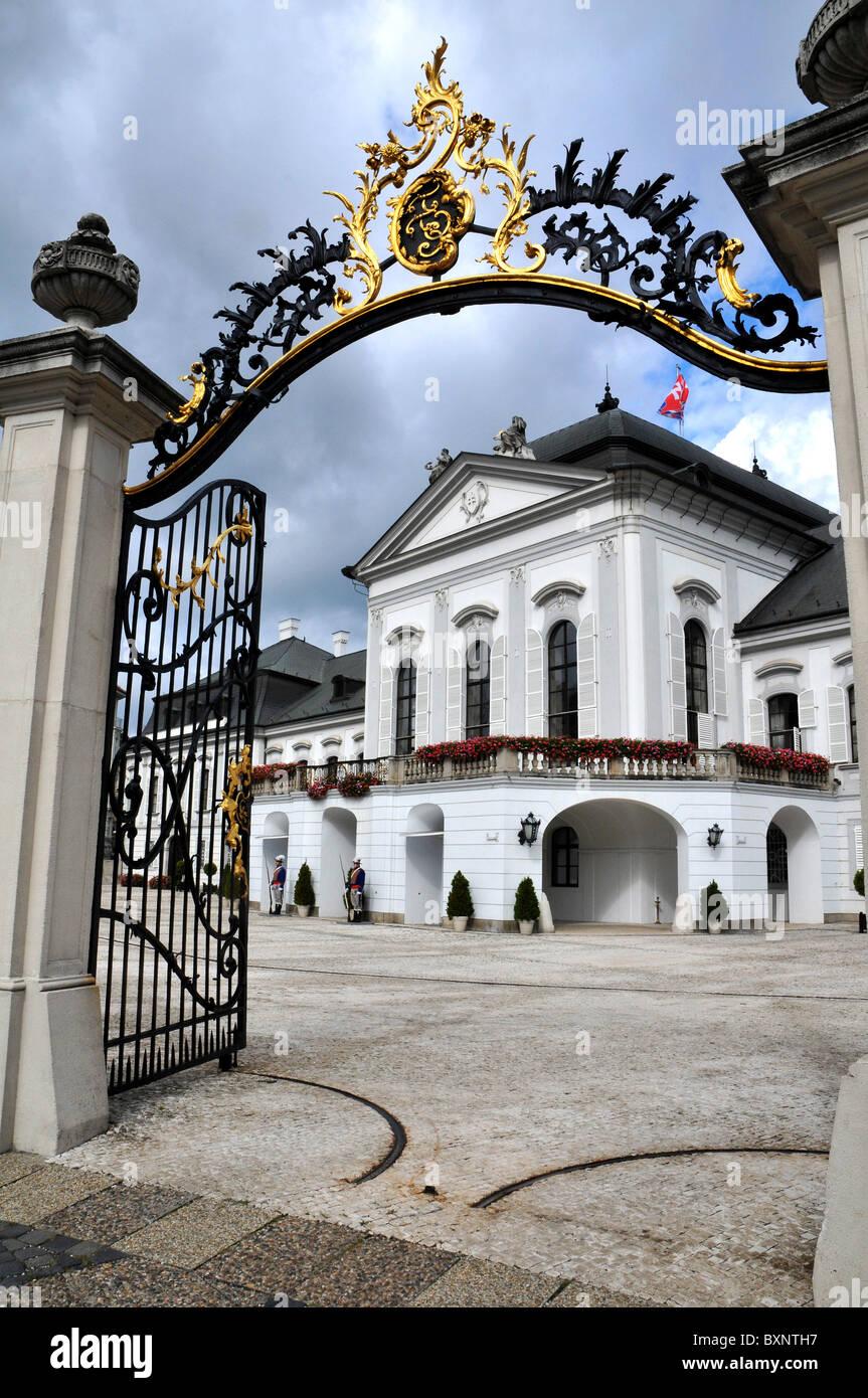 The Presidential Palace, Bratislava, Slovakia, Europe - Stock Image