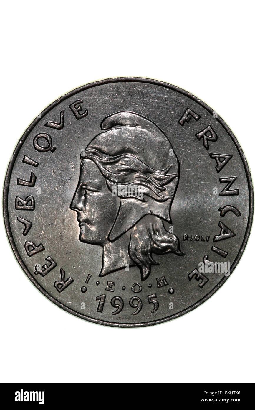 French Polynesia - coin - Stock Image