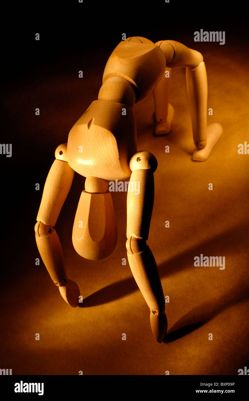 Bend Over Backwards - Stock Image