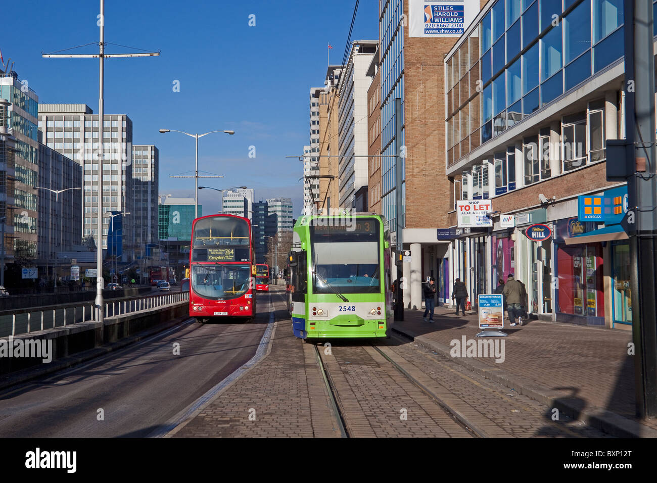 Central Croydon December 2010 - Stock Image