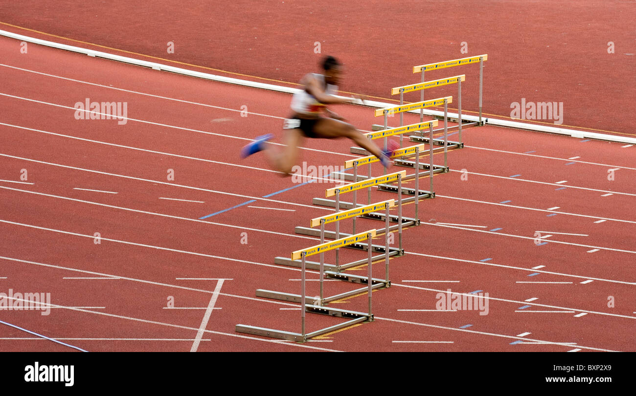 Aviva European Trials and UK Championship Athletics, the Alexander Stadium, Birmingham, . Perri Shakes Drayton 400m - Stock Image